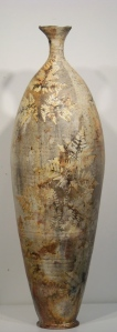 "32"" stoneware vase"