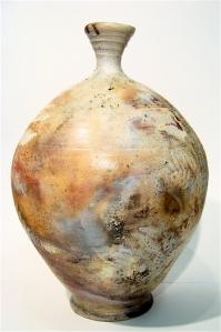 Pit Fired fern Vase side 2