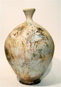 Pit Fired Fern Vase side 3