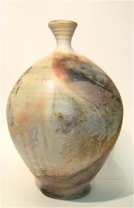 Pit Fired Fern Vase side 4