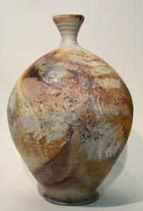 Pit Fired Fern Vase