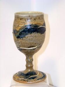 Goblet with Anagama  Blue glaze