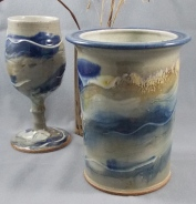 pottery goblet pottery wine cooler